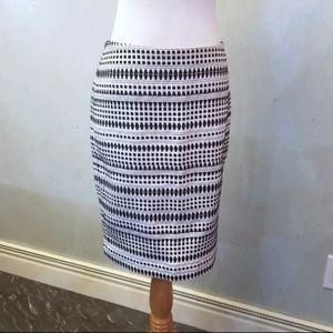 Ann tailor textured detailed skirt (J34)
